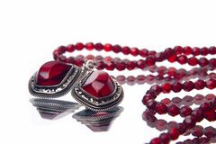 Ruby necklace royalty free stock photography