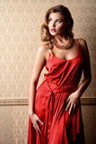 Ruby necklace Royalty Free Stock Images