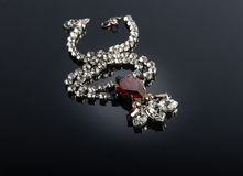 Ruby necklace Royalty Free Stock Image