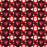 Ruby pattern Royalty Free Stock Photo