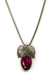 Ruby pendant with chain Royalty Free Stock Photos