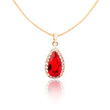 Ruby pendant isolated on white Royalty Free Stock Images