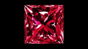 Ruby Princess Cut iridescente collegato video d archivio