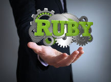 Ruby on rails coding Stock Photos