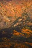 Ruby Range. Mountain of ruby color at fall in the Gunnison National forest stock image
