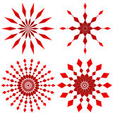 Ruby red. Four ruby red design patterns - VECTOR Royalty Free Stock Image