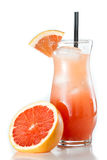 Ruby red grape fruit juice Royalty Free Stock Photo