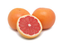 Ruby Red Grapefruits, isolated Royalty Free Stock Photography