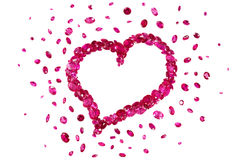 Ruby Red Heart Stock Photography