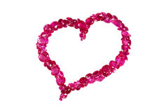Ruby Red Heart Stock Photo