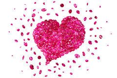 Ruby Red Heart Royalty Free Stock Photo