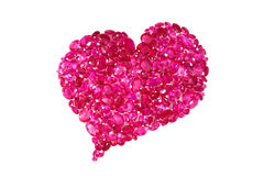 Ruby Red Heart Royalty Free Stock Photography