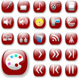 Ruby Red Icons, Digital Media Stock Photos