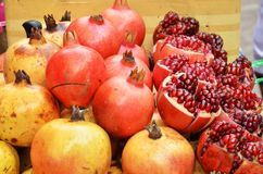 Ruby-red pomegranate already for sale Stock Photo