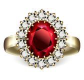 Ruby ring Royalty Free Stock Photography