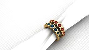 Ruby Ring Fotografia Stock Libera da Diritti