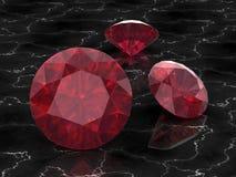 Ruby or Rodolite gemstone Royalty Free Stock Photos