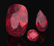 Ruby or Rodolite gemstone Royalty Free Stock Photography
