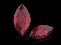 Ruby or Rodolite gemstone Stock Images