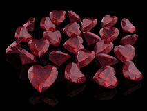 Ruby or Rodolite gemstone Royalty Free Stock Photo