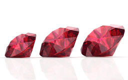 Ruby or Rodolite gemstone Royalty Free Stock Image