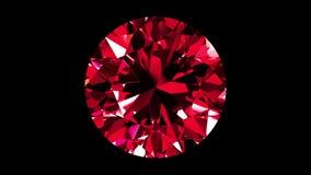 Ruby Round Cut iridescente collegato stock footage