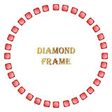 Ruby round frame Stock Images