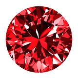 Ruby Round Over White Background Immagini Stock Libere da Diritti