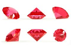 Ruby set Royalty Free Stock Photography