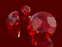 Ruby set Royalty Free Stock Photos