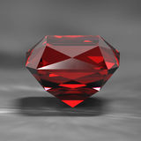Ruby side view. On gray becground Stock Images