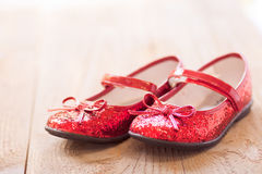Ruby slippers Stock Photography