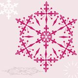 Ruby snowflake Stock Photography