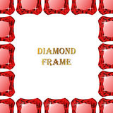 Ruby square frame Royalty Free Stock Photos