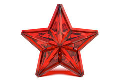 Ruby star. Red ruby star isolated on a white background Stock Image