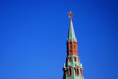 Ruby star. Moscow Kremlin. UNESCO World Heritage Site. Stock Image
