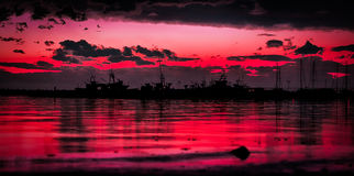 Ruby sunset royalty free stock photos