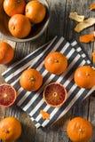 Ruby Tango Blood Orange Clementines orgânico cru foto de stock royalty free