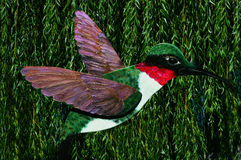 Ruby Throated Hummingbird Royalty Free Stock Photo