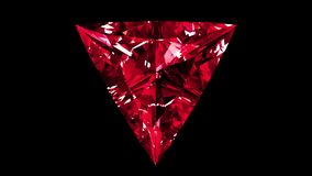 Ruby Triangle Cut iridescente collegato illustrazione vettoriale