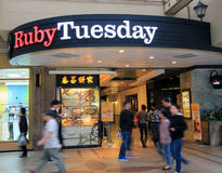 Ruby Tuesday restaurant in Hong Kong Royalty Free Stock Photography