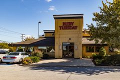Ruby Tuesday Sign royalty-vrije stock afbeelding