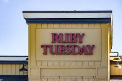 Ruby Tuesday Sign stock foto's