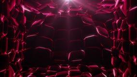 Ruby Waves Background ilustración del vector