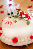 Ruby Wedding Anniversary Cake Royaltyfria Foton