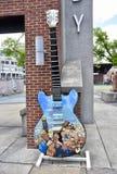 Ruby Wilson B B Konung Gibson Guitar Blues Tribute, Beale gata Memphis TN royaltyfria bilder