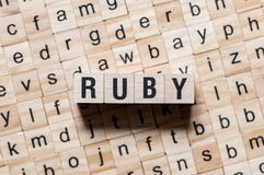 Ruby word concept stock images