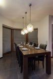 Rubyhuset - bordlägga i en matsal arkivfoto
