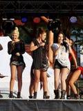 """Rucar, †de ROMÊNIA """"13 de setembro de 2014: Faixa do céu no concerto Imagem de Stock Royalty Free"""