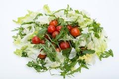 Ruccola, φύλλα μαρουλιού και ντομάτες κερασιών Στοκ Φωτογραφία
